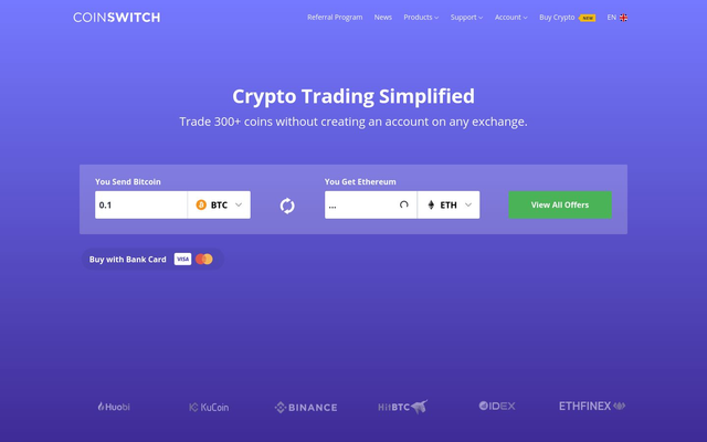 Coinswitch Exchange